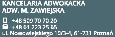 adwokat rozwodowy Monika Zawiejska